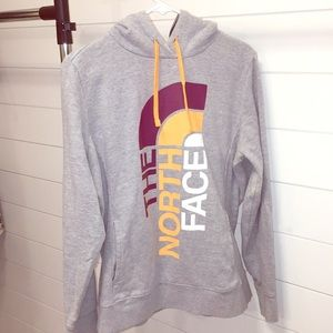 The North Face Gray Hoodie Sweatshirt Women's L Lg